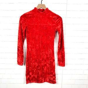 NEW Urban Outfitters Velvet High Neck Dress